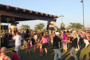 Dancing at Santee's Park